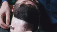Shaving Off Beard at Barber Place video