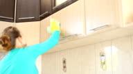 she cleans the kitchen video