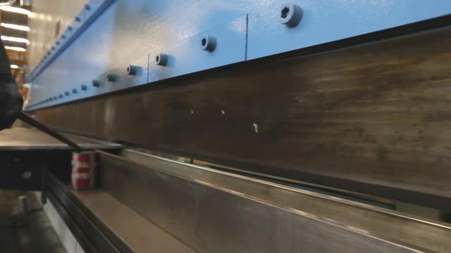 Sheet metal bending in factory video