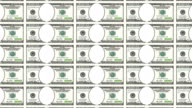 Sheet of 100 dollar bill with no face. Looped. video