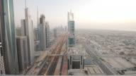 Sheik Zayed road timelapse. Dubai video