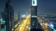 Sheik Zayed Road timelapse video