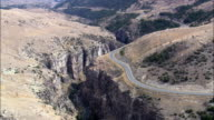Shell Canyon And Shell Creek  - Aerial View - Wyoming, Big Horn County, United States video