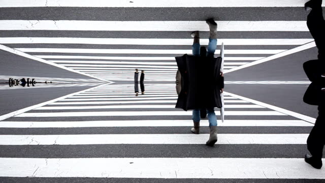 Shibuya Crossing Abstract video