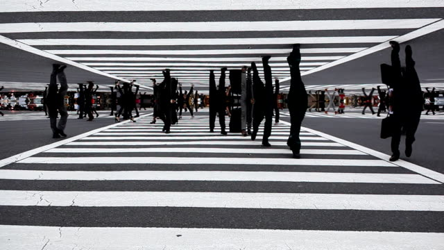 Shibuya Crossing Futuristic video