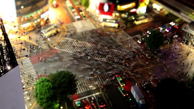 Shibuya Crossing in Tokyo Japan Time-Lapse video