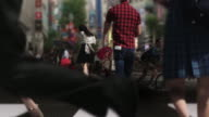 Shibuya Crossing Intersection Geisha Maiko Parallax and Cinemagraph Tokyo Japan. video