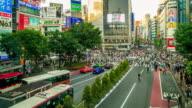 Shibuya Crossing Time Lapse video