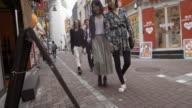 Shibuya Friends Looking Menu Walking Street Slow motion Tokyo Japan. video