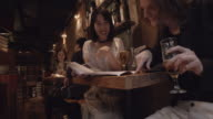 Shibuya Friends Looking Menus Slow motion Tokyo Japan. video