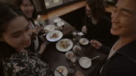 Shibuya Friends Meal Restaurant Slow motion Tokyo Japan. video