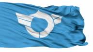 Shiga Prefecture Isolated Waving Flag video