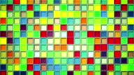shimmering colorful squares loopable background video