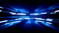 shining blue glow loopable technology background video