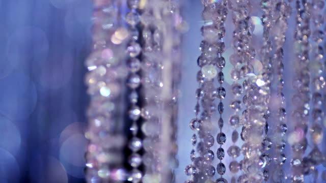 Shining crystal background. Crystal chandelier. Crystal stones. Slow motion. video