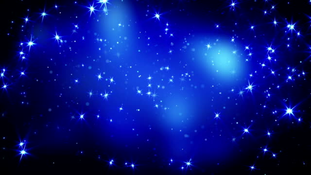 shining stars on blue falling loopable video