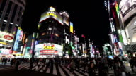 Shinjuku Crossing in Tokyo Japan video