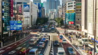 Shinjuku timelapse and traffic on rush hour video