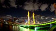 Shinohashi bridge nightscape time lapse video