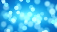 shiny blue defocused lights loopable background video