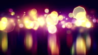 shiny bokeh lights with reflections loop background video