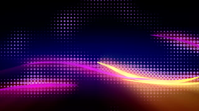 Shiny curves flying seamless loop abstract animation video