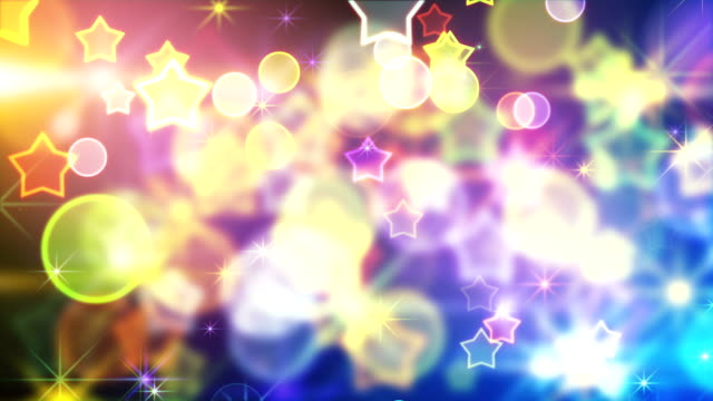 shiny festive background with bokeh and stars loop video
