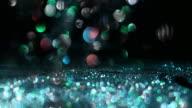 SLO MO shiny flakes of glitter video