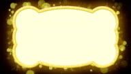 shiny gold banner loopable animation video