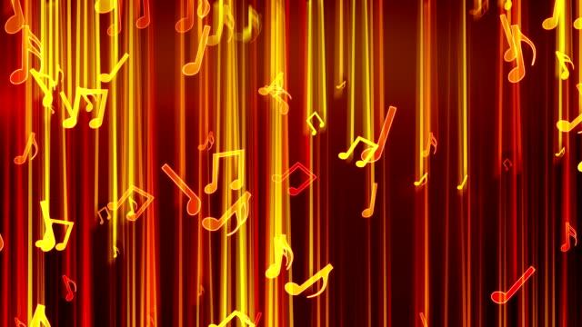 shiny notes falling loop video