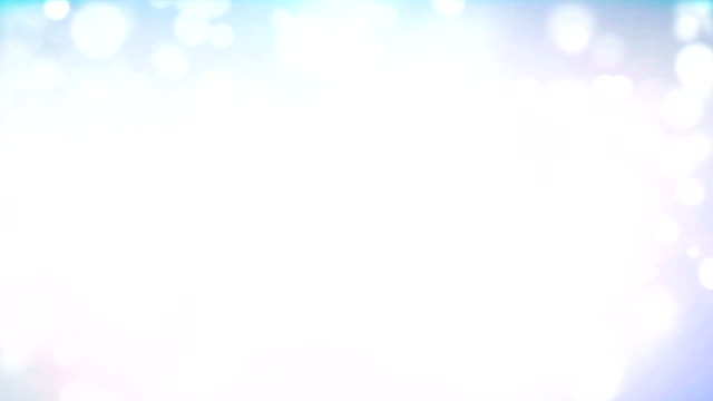 Shiny White Particles On Blue Background video