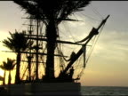 Ship at Sunrise, with Palms video