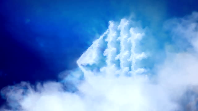 Ship made of clouds that swims in heaven. video
