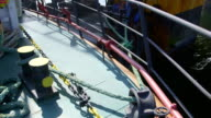 Ship moored to offshore gas production platform video