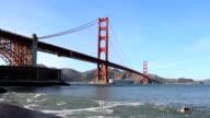 Ship Passing Under The Golden Gate Bridge video