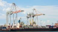 Ship port cargo video