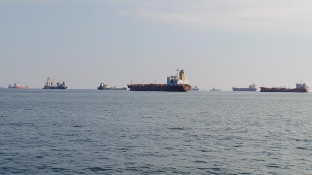 ships at anchor video