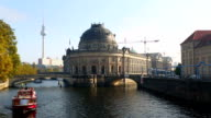 Ships on the Spree River, Bodemuseum in Berlin video