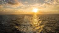 T/L Ship's wake at dawn video