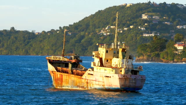 Shipwreck in front of the island of St. Vincent video