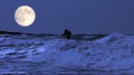 Shipwreck in stormy seas video