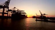 Shipyard in Hamburg video