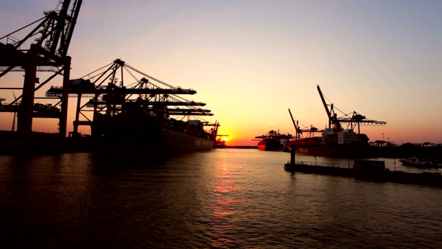 Shipyard in Hamburg video