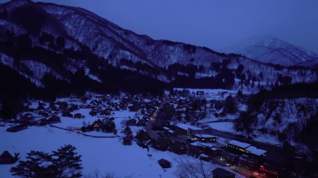 Shirakawago Gassho-Dukuri Heritage village, Gifu, Japan video