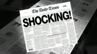 Shocking! - Newspaper Headline video