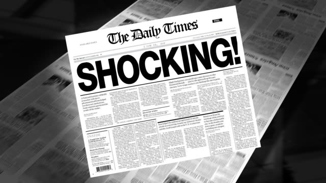 Shocking! - Newspaper Headline (Intro + Loops) video