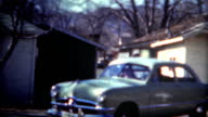 (8mm Film) 1949 Shoebox Ford Car Baby Blue video