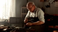 HD DOLLY: Shoemaker Lasting A Shoe video