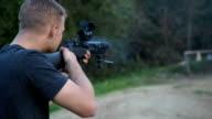 Shooting Automatic Firearm video
