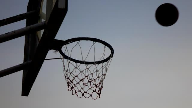 Shooting basketball,Slow motion video